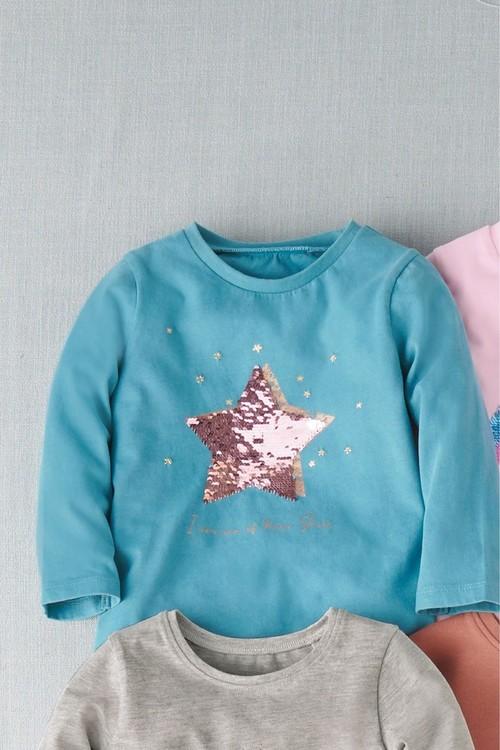 Next Sequin Star Long Sleeve T-Shirt (9mths-7yrs)