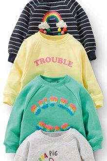 Next Trouble Slogan Crew (3mths-7yrs)