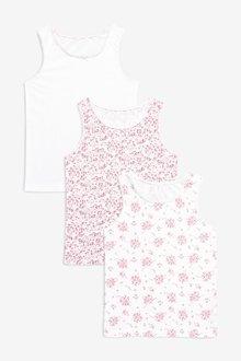 Next 3 Pack Floral Vests (1.5-12yrs)