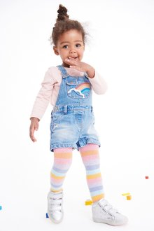Next Rainbow Dungarees Set (3mths-7yrs)