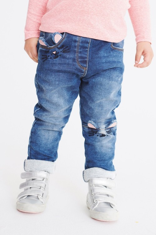 Next Cat Detail Pull-On Jeans (3mths-7yrs)