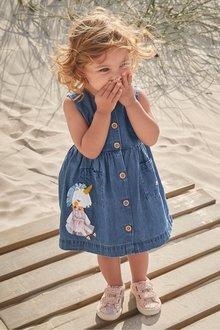 Next Unicorn Embroidered Dress (3mths-7yrs)