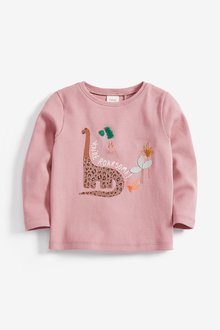Next Dinosaur Embroidered Long Sleeve T-Shirt (3mths-7yrs)