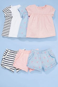 Next 3 Pack Unicorn Shorts (3mths-7yrs)