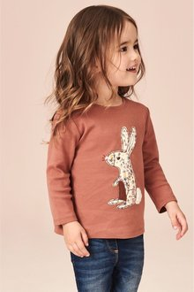 Next Embroidered Bunny AppliquA Long Sleeve T-Shirt (3mths-7yrs)