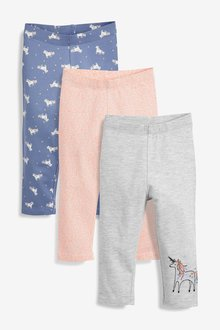 Next Unicorn Leggings Three Pack (3mths-7yrs)