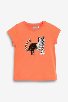 Next Sequin Tiger Short Sleeve T-Shirt (9mths-7yrs)