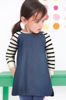Next Raglan Breton Stripe Dress (3mths-7yrs)