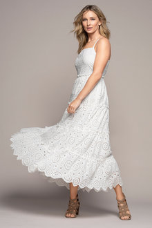 Grace Hill Tiered Broderie Maxi Dress - 237352