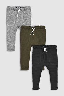 Next Lightweight Joggers Three Pack (3mths-7yrs) - 237364
