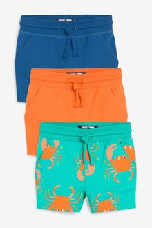 Next 3 Pack Crab All Over Print Shorts (3mths-7yrs)