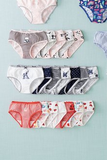 Next 7 Pack Bunny Briefs (1.5-12yrs)