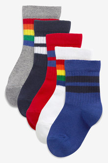 Next 5 Pack Cotton Rich Sport Socks (Younger)