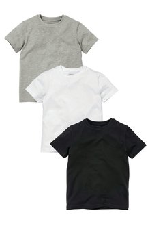 Next 3 Pack Short Sleeve T-Shirts (3-16yrs)