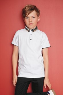 Next Premium Check Collar Poloshirt (3-16yrs)