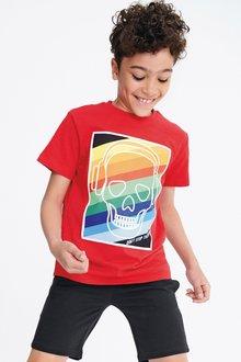 Next Rainbow Skull Print T-Shirt (3-16yrs)
