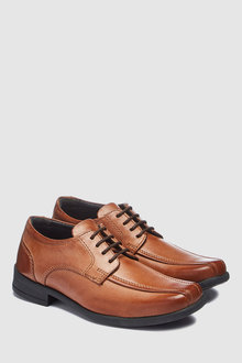 Next Leather Tramline Lace-Up Shoes (Older)