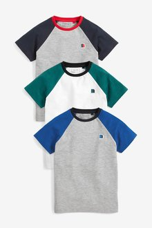 Next Badge Raglan T-Shirts Three Pack (3-16yrs)