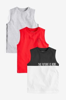 Next Vests Three Pack (3-16yrs)