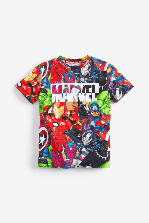 Next All Over Printed Marvel T-Shirt (3-14yrs)
