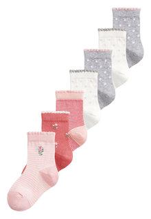 Next 7 Pack Pretty Socks (Older)