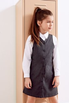Next Heart Button Through Pinafore (3-14yrs)