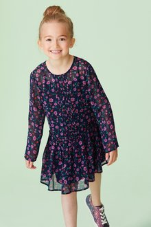 Next Floral Pleated Dress (3-16yrs)