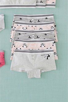 Next 5 Pack Panda Boxers (2-16yrs) - 237595