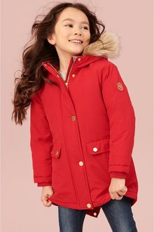 Next Shower Resistant Faux Fur Trimmed Parka (3-16yrs)