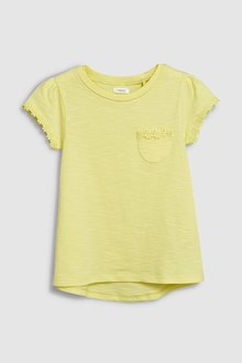 Next Short Sleeve Daisy Trim T-Shirt (3-16yrs)