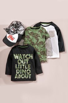 Next Slogan Long Sleeve T-Shirts Three Pack (3mths-7yrs)