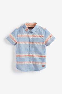 Next Short Sleeve Stripe Shirt (3mths-7yrs)