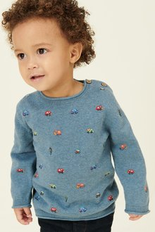 Next Transport Embroidered Jumper (3mths-7yrs)