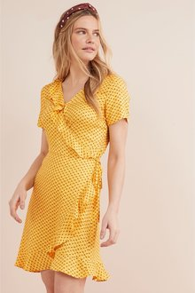 Next Geo Print Wrap Dress
