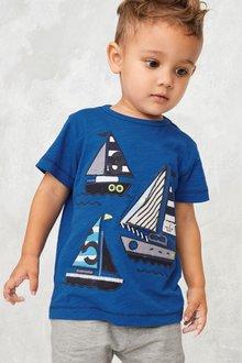 Next Boat Print Short Sleeve T-Shirt (3mths-7yrs)