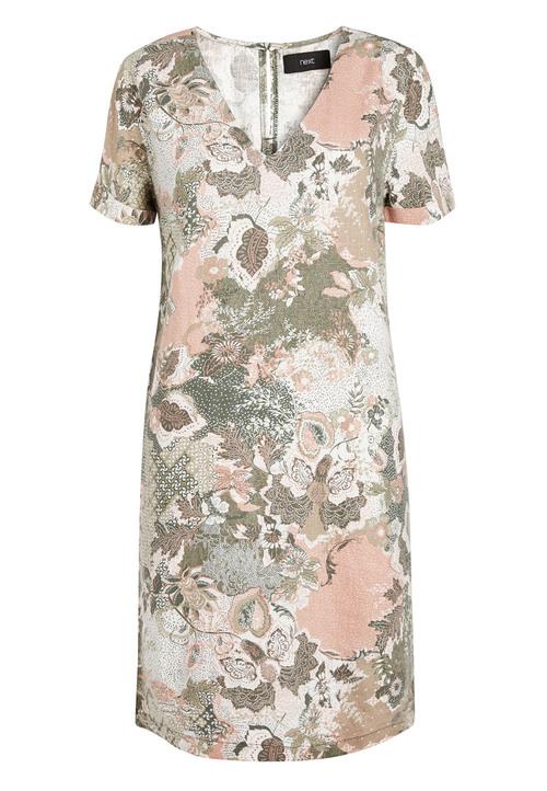 Next Linen Blend T-Shirt Dress
