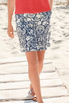 Next Linen Blend Skirt- Tall