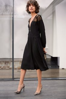 Next Lace Wrap Dress-Tall