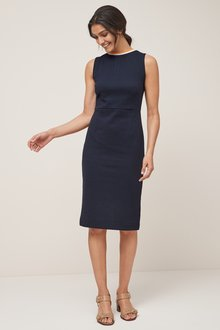 Next Textured Jersey Jacquard Dress- Tall
