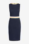 Next Textured Jersey Jacquard Dress- Tall