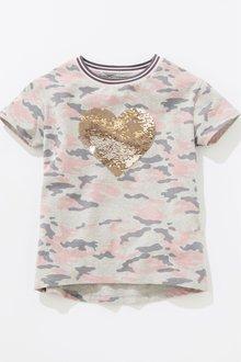 Next Sequin Heart T-Shirt (3-16yrs)