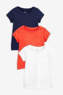 Next 3 Pack Core T-Shirts (3-16yrs)