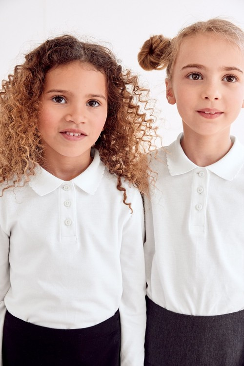 Next 2 Pack Long Sleeve Curved Collar Shirt (3-16yrs)