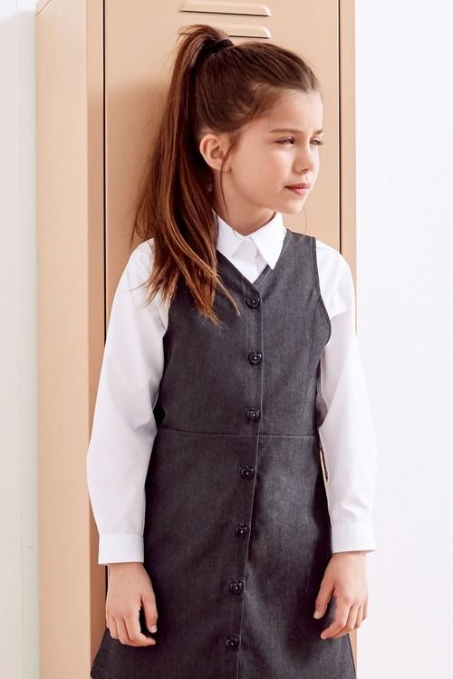 Next 2 Pack Short Sleeve Curved Collar Shirt (3-16yrs)