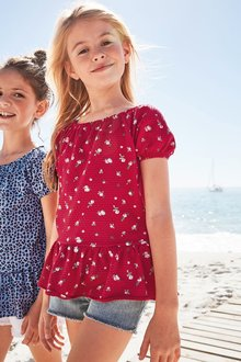 Next Textured Bardot Top (3-16yrs)