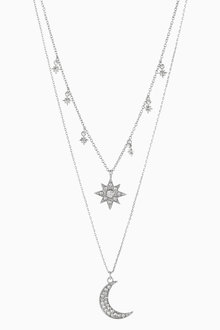 Next Multi Layer Star Moon Necklace