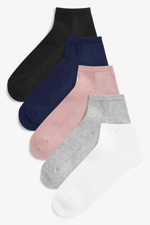 Next Cushion Sole Trainer Socks Five Pack