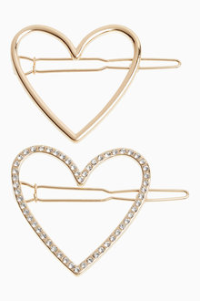 Next Heart Hair Clips Two Pack