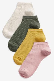 Next Gold Foil Trainer Socks Five Pack