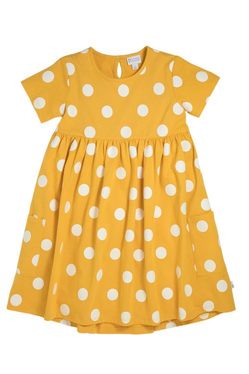 Pumpkin Patch Dress with Scoop Hem